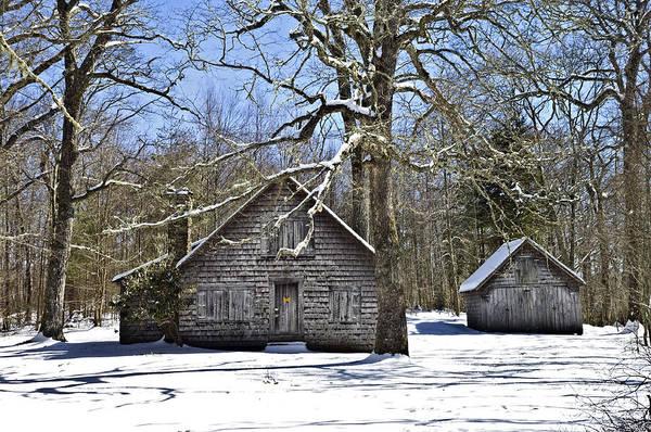 Vintage Buildings In The Winter Snow Art Print