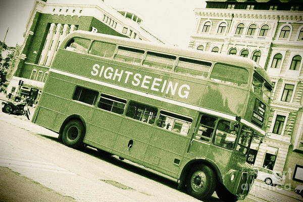 Wall Art - Photograph - Vintage Bus by Sophie Vigneault