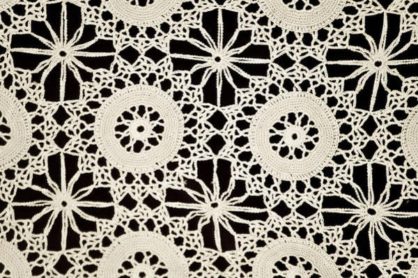 Photograph - Vintage Crocheted Doily by Carolyn Marshall