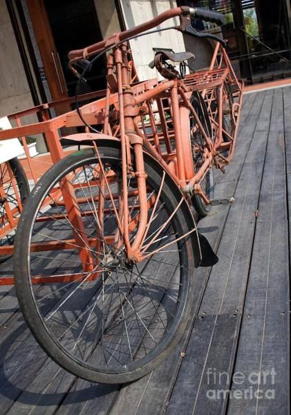Bicycle Rack Photograph - Vintage Farmer Bicycle by Yali Shi