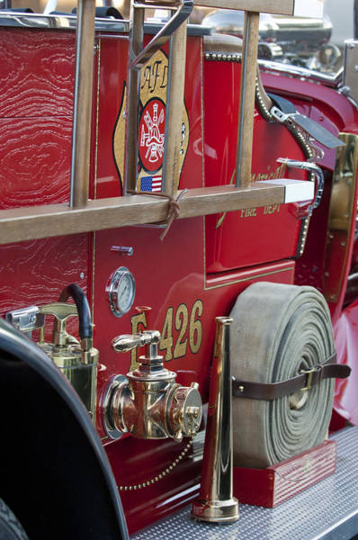 Photograph - Vintage Fire Truck 2 by Jill Reger