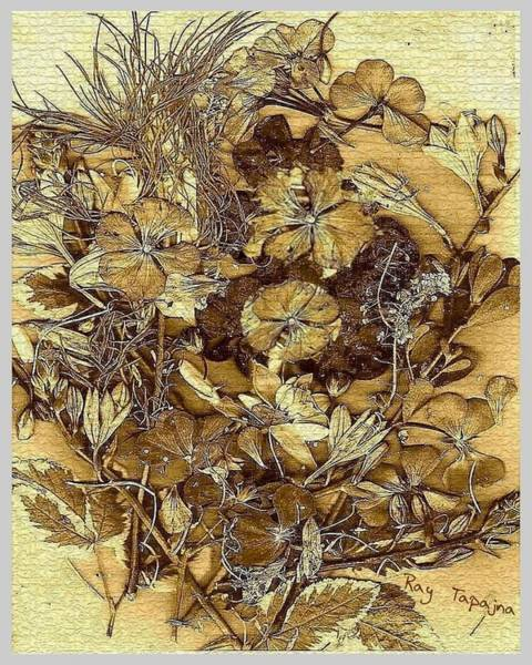 Mixed Media - Vintage Flowers For You by Ray Tapajna