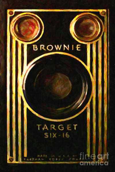 Photograph - Vintage Kodak Brownie Target Six-16 Camera . Version 2 by Wingsdomain Art and Photography