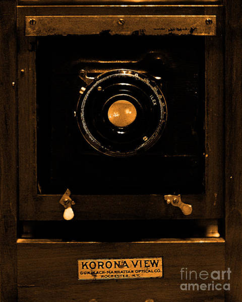 Photograph - Vintage Korona View Camera . Sepia . 7d13356 by Wingsdomain Art and Photography