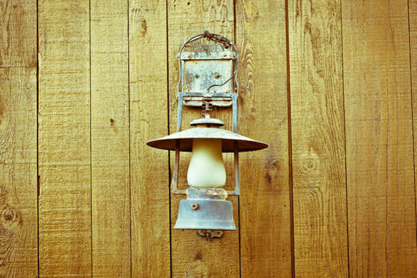 Old Wall Art - Photograph - Vintage Lamp by Tom Gowanlock