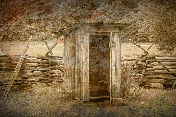 Privy Photograph - Vintage Looking Old Outhouse In The Great Smokey Mountains by Randall Nyhof