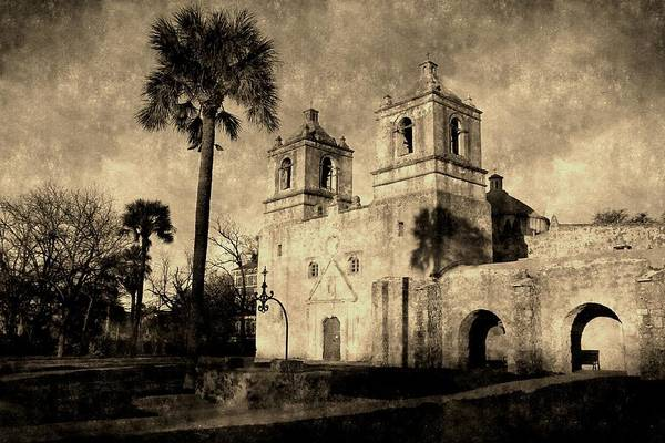 Photograph - Vintage Mission Concepcion by Sarah Broadmeadow-Thomas
