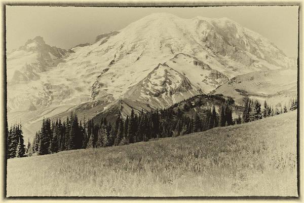 Photograph - Vintage Mount Rainier by David Patterson