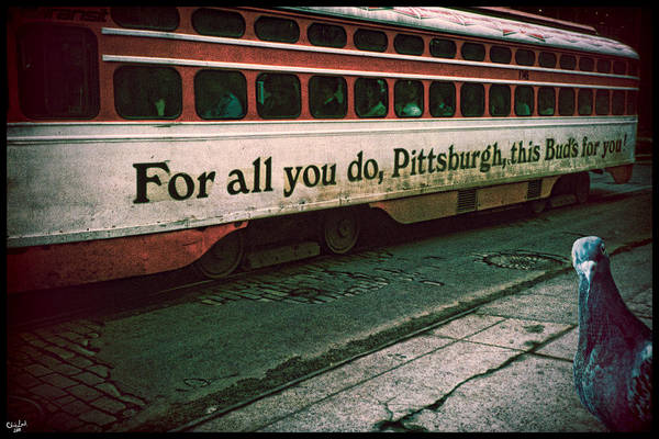 Photograph - Vintage Pittsburgh Trolly by Chris Lord