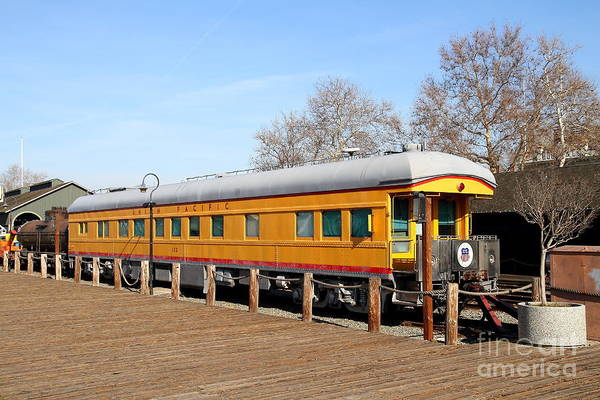 Photograph - Vintage Railroad Trains In Old Sacramento California . 7d11508 by Wingsdomain Art and Photography