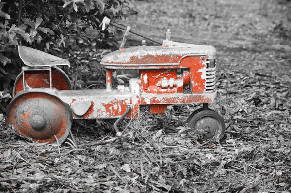 Photograph - Vintage Red Pedal Tractor by Carolyn Marshall