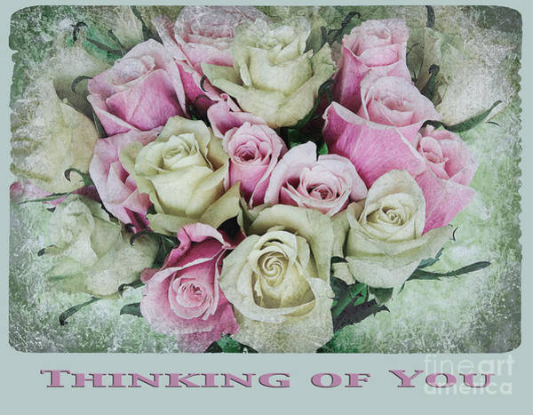 Wall Art - Photograph - Vintage Rose Bouquet Card by Jim And Emily Bush