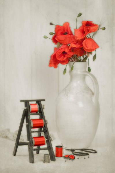 Wall Art - Photograph - Vintage Sewing Table by Amanda Elwell