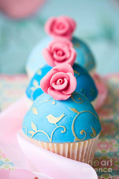 Fairy Cake Wall Art - Photograph - Vintage Style Cupcakes by Ruth Black
