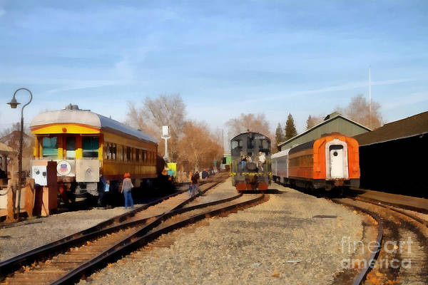 Photograph - Vintage Trains At The Old Sacramento Train Depot . 7d11513 by Wingsdomain Art and Photography