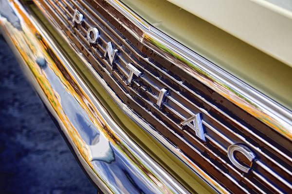 Wall Art - Photograph - Vintage Yellow Pontiac by Carol Leigh