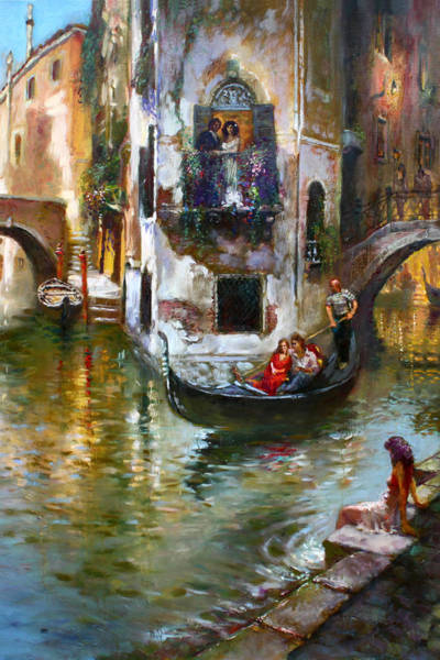 Wall Art - Painting - Viola In Venice by Ylli Haruni