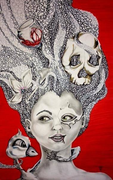 Wall Art - Drawing - Violent Dreams by Victoria Dietz