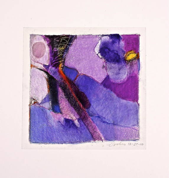 Drawing - Violet Is As Purple Does  --start- by Cliff Spohn