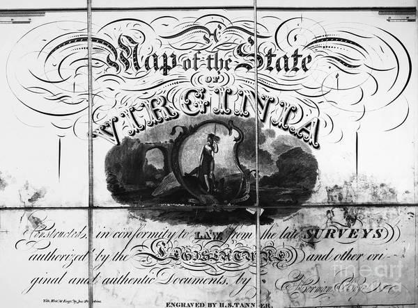 Boyd Photograph - Virginia: Cartouche, 1826 by Granger