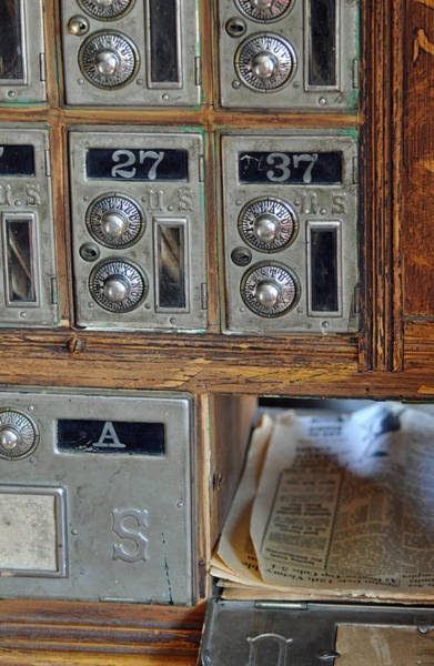 Photograph - Virginia City Post Office Box by Bruce Gourley
