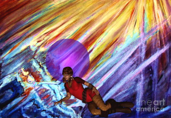Digital Art - Virtual Reality In Space by Stanley Morganstein