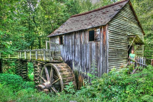 Photograph - Visiting The Old Mill by Barry Jones