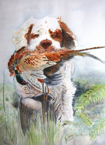Field Spaniel Painting - Vocation - Clumber Spaniel by Jan Irving