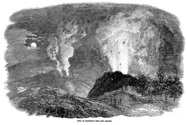 Photograph - Volcanoes: Etna, 1852 by Granger