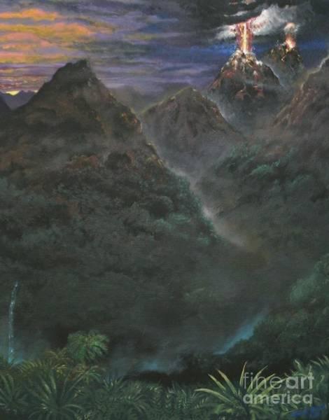 Volcanoe Painting - Volcanoes by Michael Brown