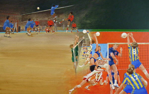 Mixed Media - Volley Ball by Cliff Spohn