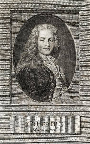 Francois Marie Arouet Photograph - Voltaire, French Author by Middle Temple Library