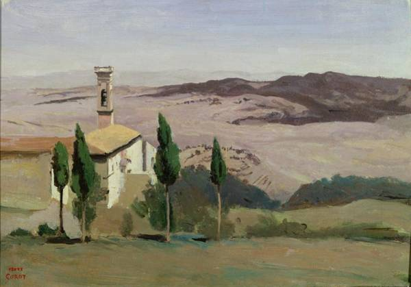 Barren Painting - Volterra by Jean Baptiste Camille Corot