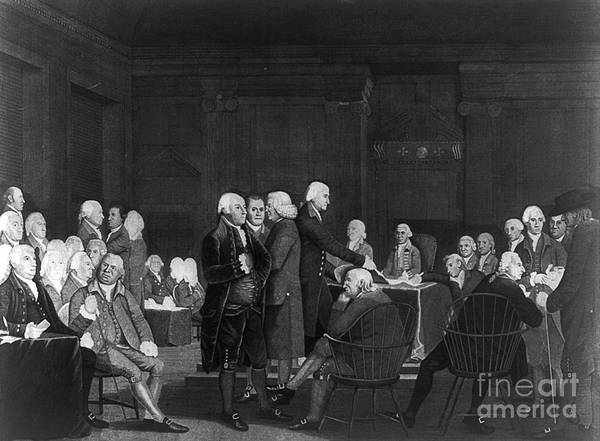 Photograph - Voting Independence, 1776 by Granger