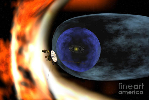 Cosmology Digital Art - Voyager 2 Spacecraft Studies The Outer by Stocktrek Images