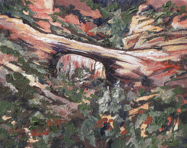 Oak Creek Canyon Painting - Vultee Arch by Sandy Tracey