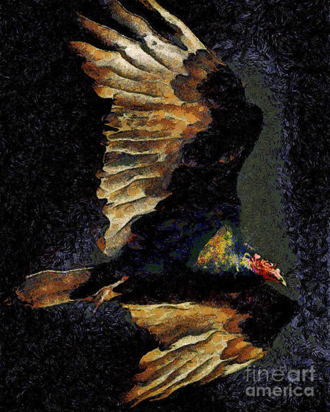 Photograph - Vulture In Van Gogh.s Dream Returns . 40d8879 by Wingsdomain Art and Photography