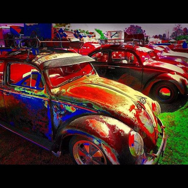 Volkswagen Photograph - Vw Bugs @ Greazefest by Avril O