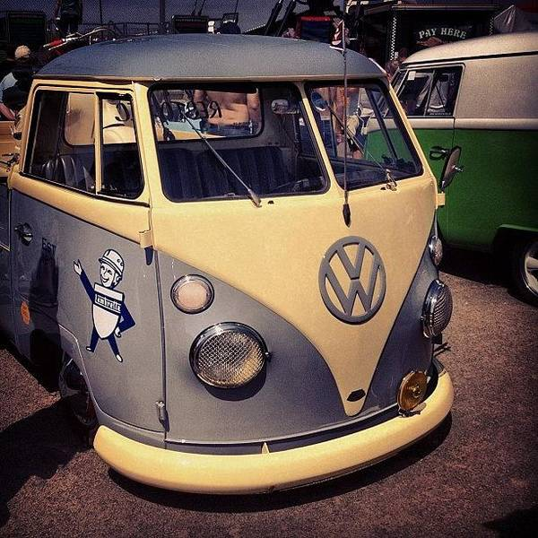 #vw #splitt #bus Art Print