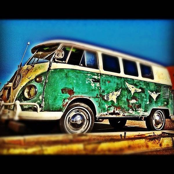 #vw #volkswagon #bus #patina #vintage Art Print