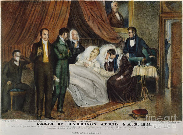 1841 Photograph - W. H. Harrison: Deathbed by Granger