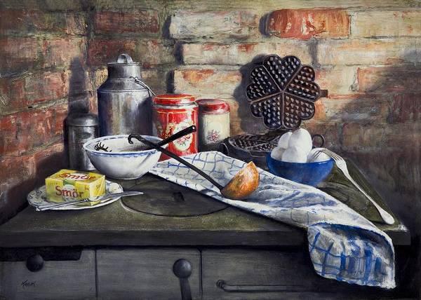 Painting - Waffle Recipe by Brandon Kralik