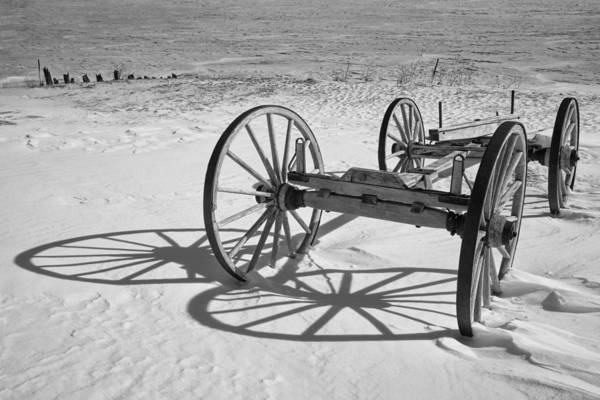 Photograph - Wagon Chassis Along The Shore At Fayette Michigan State Park by Randall Nyhof