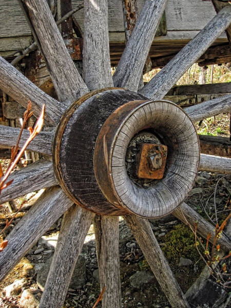 Photograph - Wagon Wheel by Fred Denner