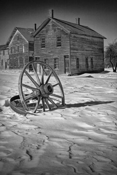 Photograph - Wagon Wheel In Winter by Randall Nyhof