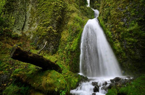 Photograph - Wahkeena Falls 02 by Matt Hanson