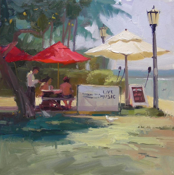 Wall Art - Painting - Waikiki Hotspot by Richard Robinson