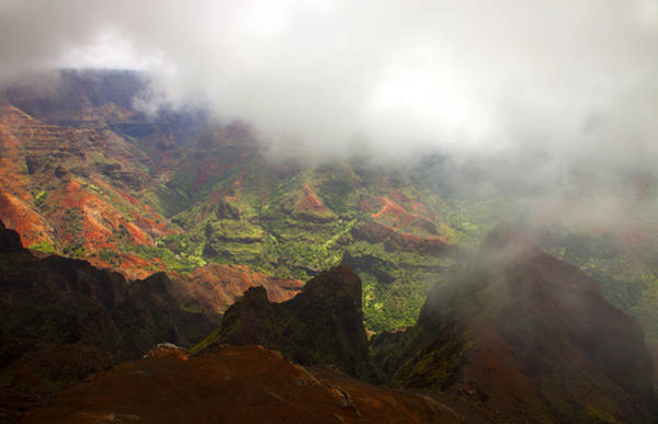 Waimea Canyon Photograph - Waimea Revealed by Mike  Dawson