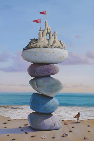 Sand Castle Painting - Waiting For Camelot by Paul Bond