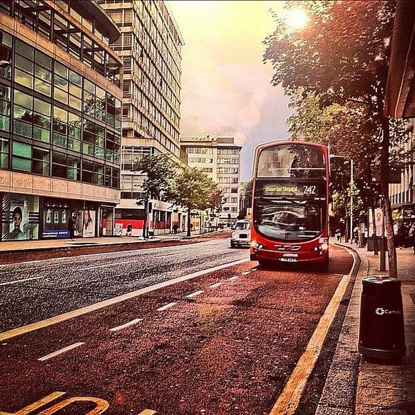 Bus Photograph - Waiting For My Bus @ Holborn #instagram by Ben Armstrong